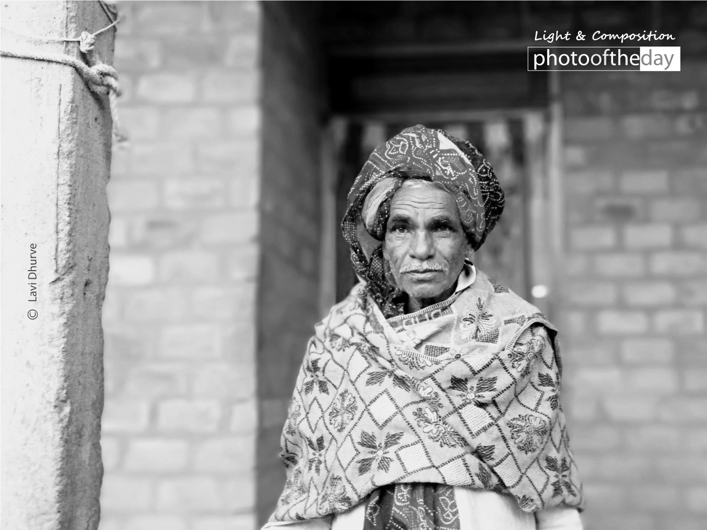 An Old Man with a Turban by Lavi Dhurve