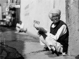 Grandpa with Card by Lavi Dhurve